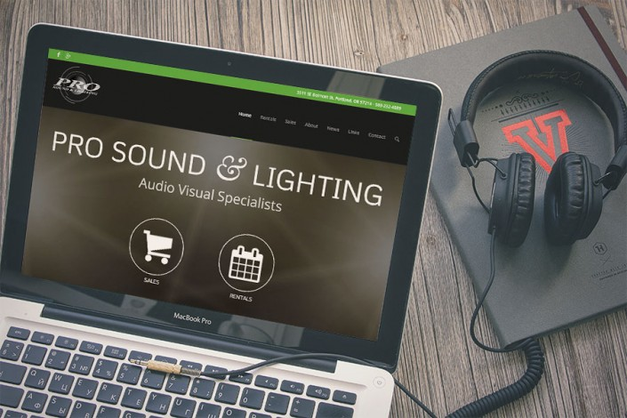 Pro Sound & Lighting Website