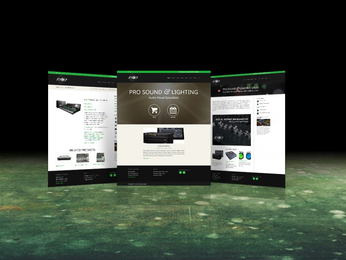 Pro Sound & Lighting Website