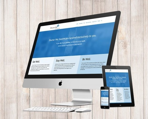 Doctor Me Website on Devices