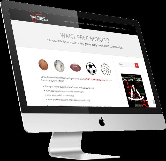 Camas Boosters Website