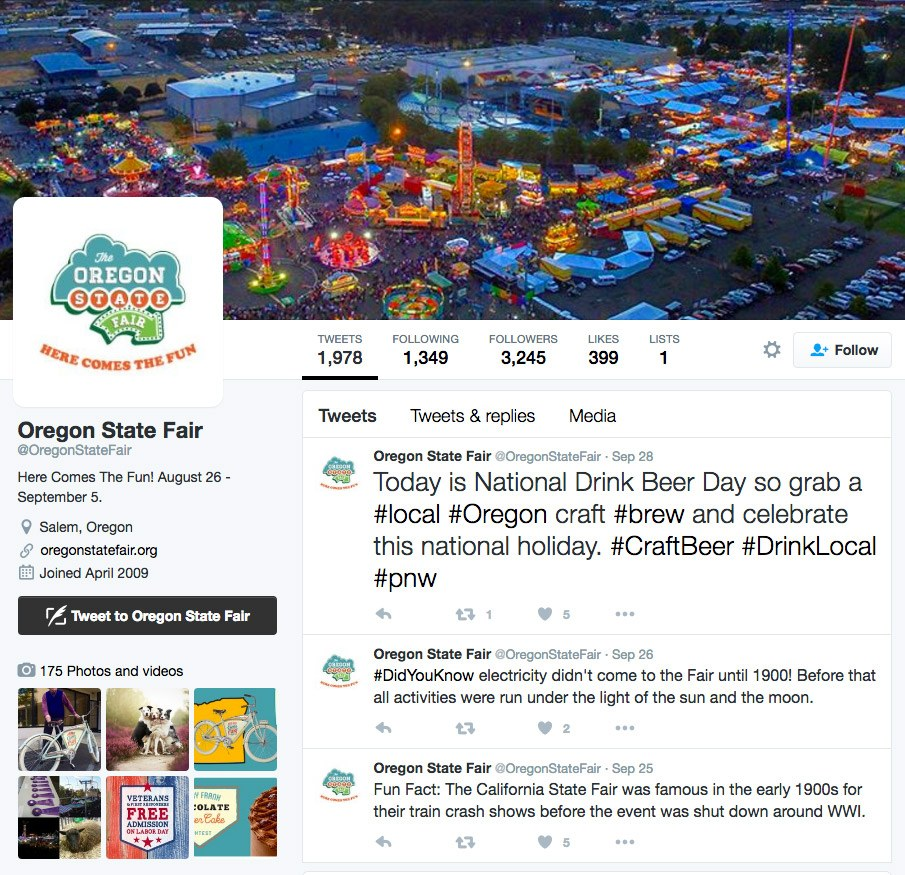 Oregon State Fair Twitter