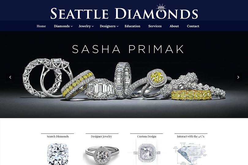 Seattle Diamonds Website Design