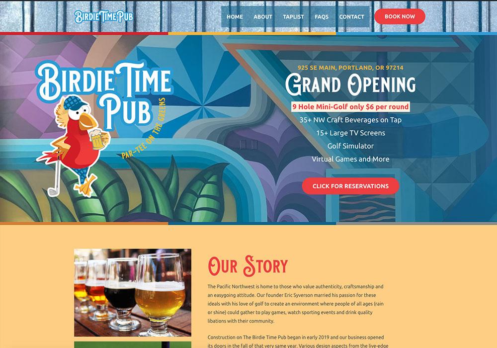 Birdie Time Pub Homepage