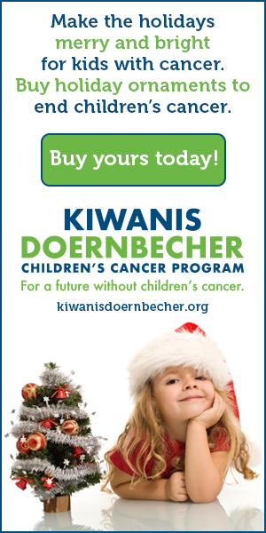 Make the holidays merry and bright for kids with cancer. Buy holiday ornaments to end children's cancer. Buy yours today at https://kiwanisdoernbecher.org/give/ornaments-by-evelyn/.